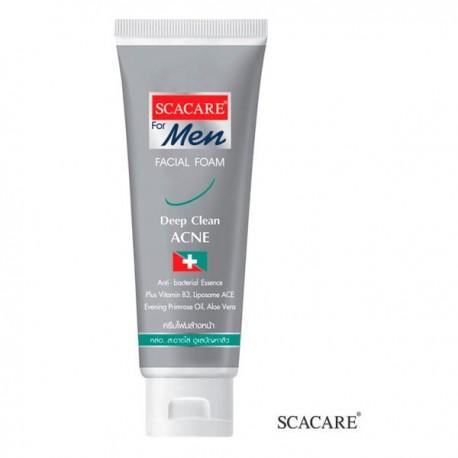 Scacare For Men Facial Foam Deep Clean Acne