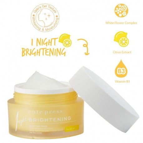 Cute Press 1 Night Brightening Overnight Mask