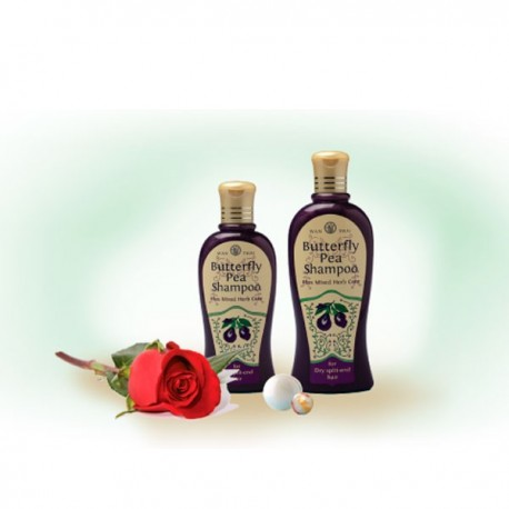 Wanthai Butterfly Pea Shampoo for Dry Split-end Hair